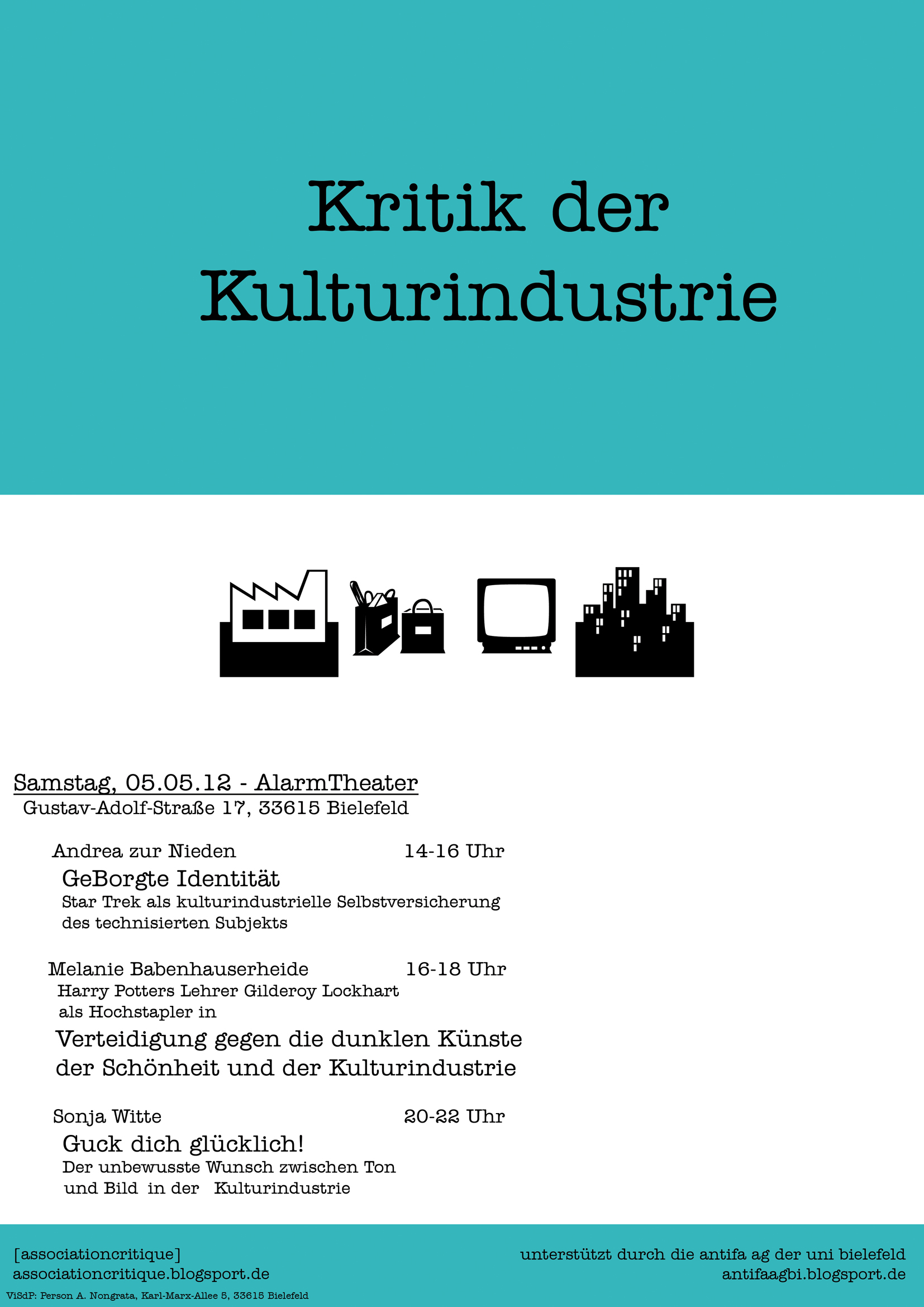 Kritik der Kulturindustrie, 5.5.2012